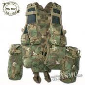 Gilet RSA arid-woodland  - marque : Mil-Tec Gilet RSA. Gilet polyvalent avec 13 poches (6 emplacements pour chargeurs de 5.56, 3 poches multiple-usages, 2 petites poches à grenades et une musette dorsale en 2 parties). Il e... prix : 29.99 €  chez ASCM #Mil-Tec #ASCM