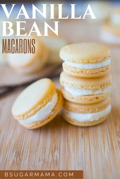 Vanilla Bean Macarons with Vanilla Bean Buttercream Filling: Including a Recipe Video!