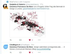 #CeramicaFrancescoDeMaio protagonista a Londra #LondonDesignBiennale #LDB16 #TriennaleDesignMuseum #Italia #WhiteFlag #UtopiaByDesign #White&Black #10x10 #BiancoeNero #PennellatoNero #FDM16 #Ceramica #Design