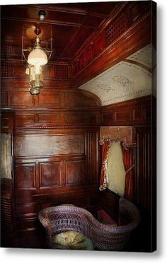Below the lovely lantern, is a lovers chair, a chair where by two lovers face each other and share a hand rail. This is a train car, decked out in great wood tones. Orient Express, Old Steam Train, Rail Car, Thing 1, Old Trains, Hotel Motel, Train Tracks, Vintage Travel, Travel Style