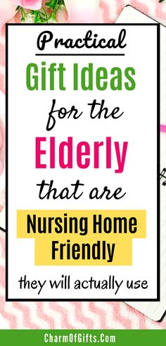 Here are some useful gifts to take to the nursing home the next time you visit your loved one there. Great for elderly parents or grandparents. #elderlygifts #nursinghomegifts #giftideas
