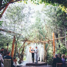 A wedding in the woods would be so beautiful and symbolic. It's like all of nature can see this momentous event taking place.