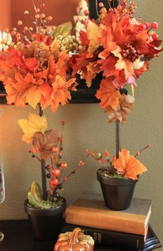 DIY Tutorial DIY Thanksgiving / DIY Creative Fall Crafts, Autumn Leaves Tree for Thanksgiving Decorating - Bead&Cord Fall Topiaries, Topiary Trees, Thanksgiving Diy, Thanksgiving Centerpieces, Thanksgiving Celebration, Autumn Decorating, Decorating Ideas, Craft Ideas, Creation Deco