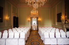 The Duke Room, the grandest in the house, is the culmination of the public parade and is the room used for the wedding ceremony. http://www.chandoshouse.co.uk/weddings/our-wedding-rooms/duke-room  #event #wedding #venue