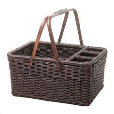Picnic basket.  I love the slots to organize silverware.