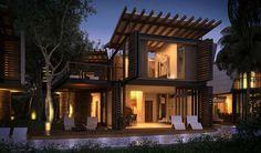 Undulating Luber Cabanas : Villas Tarabini by Sanzpont