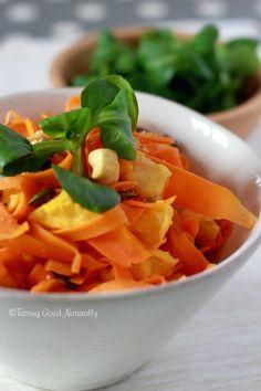 Tasting Good Naturally : Carottes à l'orange noix de cajou et graines de courges #vegan