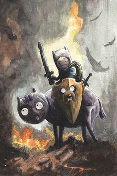 Adventure Time/Frank Frazetta's Death Dealer mashup by Matt Slay Read More: Best Art Ever (This Week) - 02.28.14 | http://comicsalliance.com/best-art-ever-this-week-02-028-14/?trackback=tsmclip
