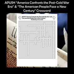 AP U.S. History America Confronts the Post-Cold War Era and The American People Face a New Century Crossword PuzzleThis crossword puzzle features 16 people, events, and terms from Chapters 40 & 41 of the very popular American Pageant textbook. Although the terms came specifically from this book ... Social Studies Activities, Learning Activities, Teaching Resources, Ap Test, Test Prep, School Levels, School Grades, High School Classroom, Cooperative Learning