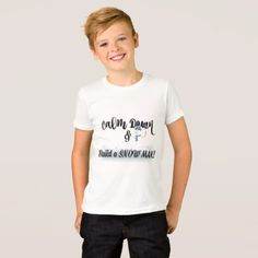Calm Down and Build a Snowman! T-Shirt - diy cyo customize create your own #personalize