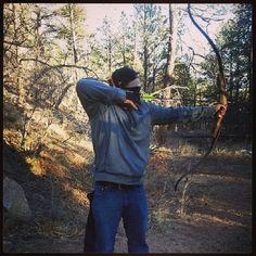 Did some bow shooting today #bow #recurve #colorado #Padgram