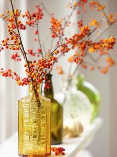 秋の玄関ディスプレイ画像とおしゃれな飾り方