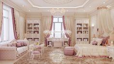 Pink bedroom for a girl - Luxury Antonovich Design Elegant Girls Bedroom, Bedroom Decor For Women, Cute Bedroom Decor, Mansion Bedroom, Dream Bedroom, Luxury Rooms, Luxurious Bedrooms, Interior Design Companies, Luxury Interior Design