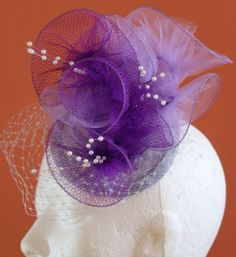 lilac and purple wired tulle by HELEN LE ROY #millinery #HatAcademy #hats