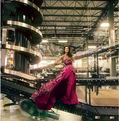 Natalie Massenet former fashion editor,  founder of Net-a-Porter,  Web site in 2000, transforming the luxury-fashion retail landscape, photographed at Net-a-Porter's newly opened 250,000 square-foot distribution center  in Mahwah, New Jersey by Annie Leibovitz for Vanity Fair