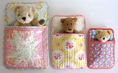 DIY Kids Sewing - flossie teacakes pdf pattern for sleeping bags for stuffed animals