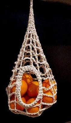 Fruit bowl, macrame, hanging, oranges More by maricela