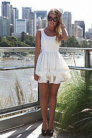 ELIXIR FRILL DRESS , DRESSES, TOPS, BOTTOMS, JACKETS & JUMPERS, ACCESSORIES, SALE, PRE ORDER, NEW ARRIVALS, PLAYSUIT, COLOUR,,White Australia, Queensland, Brisbane