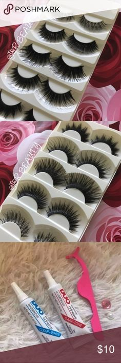5 Kinds of Eyelashes +$2 Add on eyelash Applicator  +$3 Add on eyelash glue Please message me if you want to add them.   ❌No Offers ✅ Bundle &  Save  # tags Iconic, mink, red cherry eyelashes, house of lashes, doll, kawaii, case, full, natural,  Koko, Ardell, wispies, Demi , makeup, Iconic, mink, red cherry eyelashes, house of lashes, doll, kawaii, case, full, natural,  Koko, Ardell, wispies, Demi , makeup, mascara, eyelash applicator, Mykonos Mink , Lashes , wispy ,eyelash case, mink lashes…