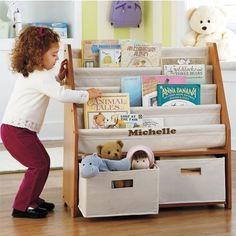 Love this sling bookshelf