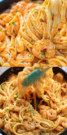 food recipes quick dinner pasta dishes Shrimp Fettuccine with Roasted Pepper Sauce Lobster Recipes, Shrimp Recipes, Pasta Recipes, Cooking Recipes, Recipe Pasta, Easy Dinner Recipes, Easy Meals, Shrimp Fettuccine, Seafood Pasta