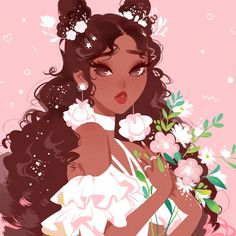 """Vicki on Instagram: """"🌷spring 🌼 want a limited edition postcard of this piece? check out my patreon, link in bio, for details! 😊💖"""""""