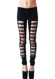 Tripp NYC Buckle Up Jeans | Dolls Kill
