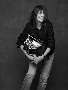 Jane Birkin in Chanel with, well, Birking bag :)
