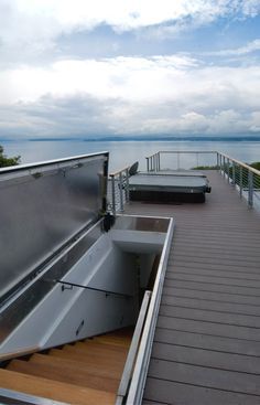 Don't skimp on a roof hatch. More and more, we're including roof terraces for the homes we design. The detailing and waterproofing of the required roof access hatch is a big deal and we want a product that provides weatherproofing and security for generations. It's also got to look good. Our favorite is the Bilco roof hatch which is available in large sizes to accommodate an entire run of stairs.