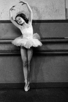 Brigitte Bardot as a child, attending Mrs. Bourgat's ballet class, 1946. Photo by Boris Lipnitzki