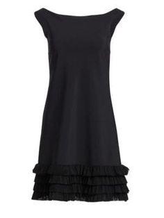 a6effde8 CHIARA BONI LA PETITE ROBE Rigmor Tiered Flounce Hem Cocktail Dress.  #chiarabonilapetiterobe #cloth
