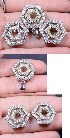 437e4b2c9 Other Fine Jewelry Sets 164328: White Moissanite 60.45 Ct Earring Pendant  Set 925 Sterling Silver