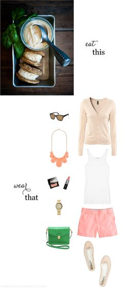 Eat This, Wear That: Sweet Peach and Basil pinned from Sheri Ann Laza-Schmitz
