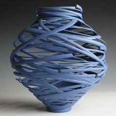 I adore this contemporary Ceramic vessel called 'Vortex' ~ by Michael Eden Ceramic Vase, Ceramic Pottery, Pottery Art, Sculptures Céramiques, Sculpture Art, Coil Pots, Creation Deco, Terracota, Paperclay