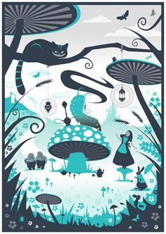 Phil West - Alice In Wonderland - http://www.folioart.co.uk/illustration/folio/artwork/alice-in-wonderland/