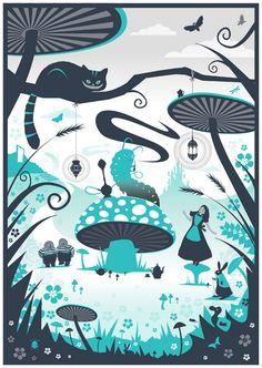 Phil West - Alice In Wonderland - http://www.folioart.co.uk/illustration/folio/artwork/alice-in-wonderland/