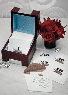 Guestbook Idea...  Loved ones write something on notes to be opened at certain anniversaries.