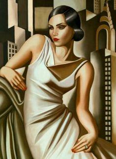 art decor portrait painting by Tamara de Lempicka Art Deco Artwork, Art Deco Paintings, Art Deco Posters, Art Deco Illustration, Art Deco Stil, Art Deco Era, Tamara Lempicka, Arte Punk, Art Deco Artists