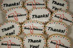 Sweet Handmade Cookies - logo cookies, thank you cookies.