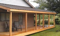 The wooden pergola is a good solution to add beauty to your garden. If you are not ready to spend thousands of dollars for building a cozy pergola then you may devise new strategies of trying out something different so that you can re Porch Roof Design, Patio Roof, Pergola Patio, Diy Patio, Patio Design, Backyard Patio, Pergola Kits, Pergola Canopy, Patio Decks