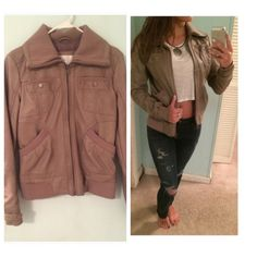 Tan Faux Leather Jacket✌🏼️ This tan faux leather jacket is a must have! Can be dressed up or down. Perfect for fall and spring! Size small. Worn only a couple times. Perfect condition! :) Jackets & Coats