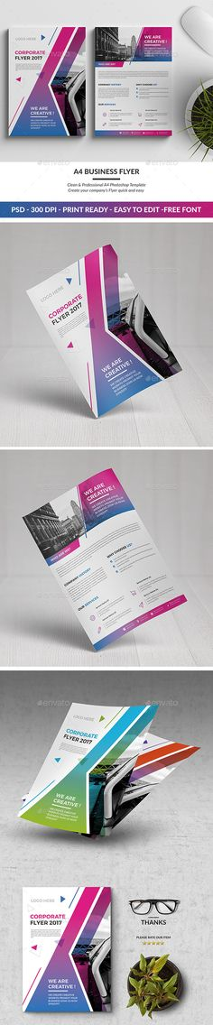 A4 Corporate Flyer Template PSD