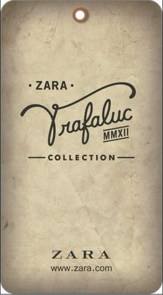 Trafaluc Zara #hangtag