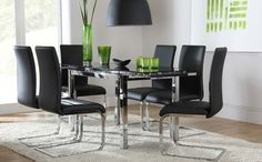 10 best black glass dining room table images dining tables lunch rh pinterest com