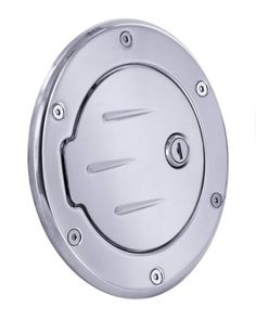 All Sales Race Style Ball-Milled Fuel Dr 6 3/4 Ring O.D. 5 1/8 Door O.D.-Chrome Locking - It's no coincidence that these are the best selling fuel doors on the market.Known for their smooth operation and quality finish. Choose between a push to open feature, or a locked door for added security. All are available in severalfinishes including our new brushed chrome. Crafted from solid 6061-T6 aircraft aluminum. Installation is simple and no drilling is required for most applications.Fits: Jeep…