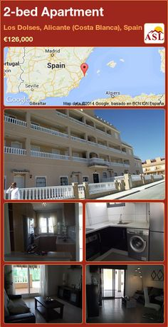 2-bed Apartment in Los Dolses, Alicante (Costa Blanca), Spain ►€126,000 #PropertyForSaleInSpain