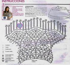Poncho or skirt Crochet Poncho Patterns, Crochet Tunic, Freeform Crochet, Crochet Diagram, Crochet Chart, Crochet Clothes, Crochet Lace, Crochet Summer Hats, Crochet Summer Dresses
