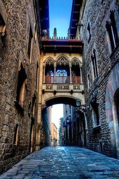 staré domy Barcelona