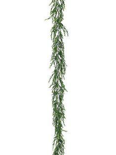 Artificial Myrtle Leaf Garland in Dark Green 6' Long