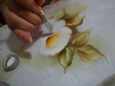 Pintura em Tecido (Rosas) por Ana Laura Rodrigues - 25/04/2013 - Mulher.com - Parte 2/2 - YouTube